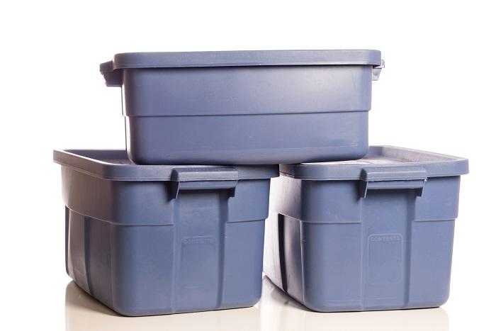 plastic bins for local move